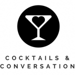 Cocktails & Conversation Logo White